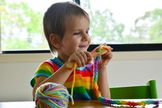 Afternoons with Otis - Wednesday Knitting at Three Years