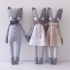 Katia Ferris is an artist and a crafter from San Francisco, CA. She hand crafts these lovely dolls call...