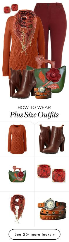 """""""Fall Outfit -- #Plus Size"""" by kimberlyn303 on Polyvore featuring Lands' End, Kate Spade, BCBGeneration and plus size clothing"""