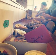 Donut party for our copywriter Kimberly's birthday!