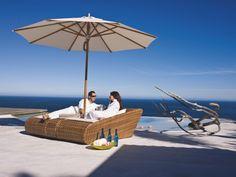 Gartenliege Rattan MBM �Madrigal� Relax Lounge rechts Rattan-Geflecht ...