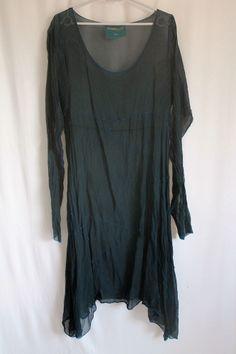 cocon.commerz PRIVATSACHEN  FLICKENEN Kleid aus SEMISEIDE in schwarz Gr. 2