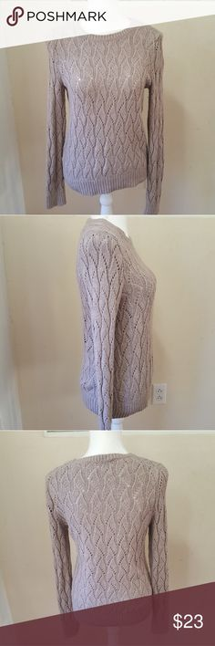 Loft knit sweater Super cute knit sweater. Taupe in color. LOFT Sweaters