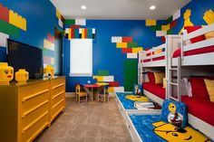 LEGO room design tips for 2020 with galleries and decoration ideas for kids rooms. Enjoy this list of the 40 best designs. Boys Lego Bedroom, Lego Bedroom Decor, Bedroom Themes, Bedroom Sets, Boy Room, Diy Room Decor, Home Decor, Minecraft Bedroom, Diy Home