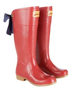 rain boots with bows!