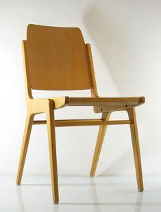 Franz Schuster, chaises de contreplaqué de Wiesner-Hager 1959 - fifties, sixties, rétro, eames, poul cadovius, charlotte perriand braakman, jean prouvé