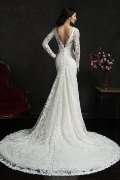 7fbb619a785787 Amelia Sposa Lace Mermaid Wedding Dresses Vintage Ivory Bateau Long Sleeves  Sash Backless Court Train