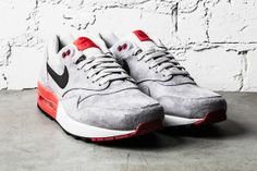 571d1ca6add9 Nike Air Max 1 Premium - Grey Red