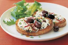 Olive & #Ricotta #Crostini 15 #Recipes with Ricotta Cheese | All Yummy Recipes