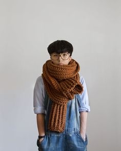 The Soopascarf in Hazelnut | Yokoo on Etsy