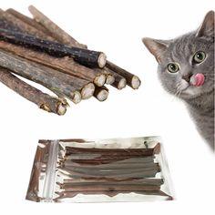 comprar 10 unids pura catnip gato molar Pasta de dientes palo Limpieza  dientes gato snacks Palos 8e1f26aaea4