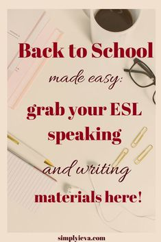 ESL speaking and writing activities and lesson plans for middle, high school and adults. 25 authentic speaking activities and a roadmap on how to teach absolute ESL beginners. Plus, a free resource library! Teaching Activities, Teaching Strategies, Teaching Resources, Classroom Resources, Teaching Ideas, Teaching English, Learn English, English Tips, English Language Learners