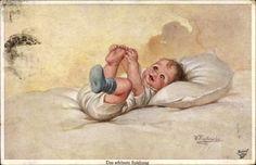Kuenstler-Ak-Fialkowska-Wally-Das-schoenste-Spielzeug-Baby-1089518