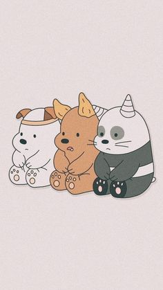 We bare bears Cute Panda Wallpaper, Cartoon Wallpaper Iphone, Disney Phone Wallpaper, Bear Wallpaper, Kawaii Wallpaper, Pastel Wallpaper, Animal Wallpaper, Girl Wallpaper, We Bare Bears Wallpapers