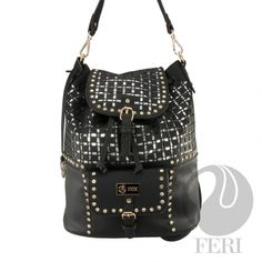 Global Wealth Trade Corporation - FERI Designer Lines Black Backpack, Leather Backpack, Selling On Pinterest, Zipper Pouch, Purse Wallet, Luxury Branding, Fashion Backpack, Shoulder Bag, Shoulder Straps
