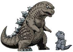 Godzilla and Baby Godzilla