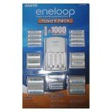 277265 Eneloop Power Pack with Battery Charger, 8 AA & 2 AAA Batteries Plus 4 C & 4 D Size Adapter (CostCo Kit #2)