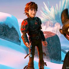Yes, Hiccup is attractive in this pic... But it's the animation that kills me!!! I want to do this. I want to create art like this.