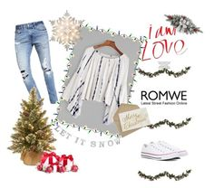 """""""T-Shirt"""" by darianad ❤ liked on Polyvore featuring Abercrombie & Fitch, Converse, Garcia, Improvements, GE and romwe"""