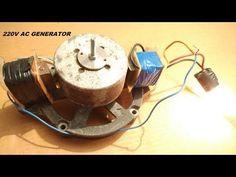 Make a 220V Free Energy Light Bulb AC Generator DIY - YouTube