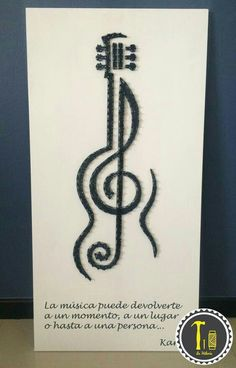 Guitar/treble clef string art