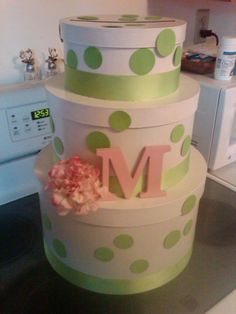 cardbox. Cute Idea for a wedding, or baby shower, even a birthday. Fill the boxes with sweet gifts.