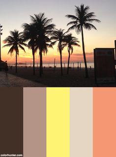 Coqueiros De Ipanema Color Scheme