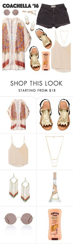 """Pack for Coachella!"" by kels-x ❤ liked on Polyvore featuring Theodora & Callum, Levi's, Chelsea Flower, Gorjana, Panacea, Sunday Somewhere, Hawaiian Tropic and packforcoachella"