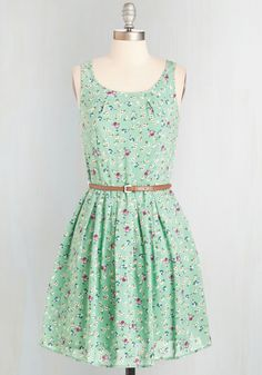 Posy Does It Dress. Your friends always take note of your relaxed-yet-adorable style, which you flawlessly display in this ModCloth-exclusive dress. #mint #modcloth