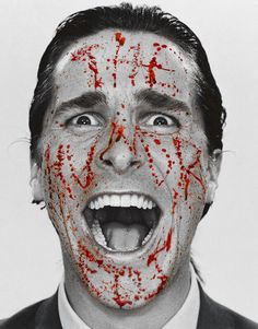Evil Crazy disguised as a 1980s NY Yuppie in American psycho
