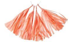 ***Tissue Paper Tassels - Coral