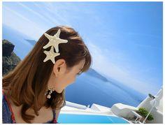 Starfish Hair Clip - perfect for a mermaid!