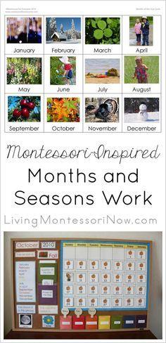 Simple Magnetic or Velcro Calendar Activity Using Free Printables {Montessori Monday} - LivingMontessoriNow.com