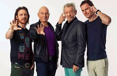 Patrick Stewart, Ian McKellan, Michael Fassbender and James McAvoy