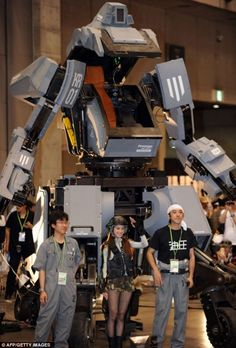 Japan Develops Fully Functional Human Piloted Mecha Robots!!!!!!!!! omg yes