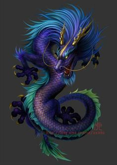 Dragon serpiente. the most beautiful blue dragon ever
