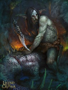 Legend of the Cryptids by Pavel Romanov, via Behance