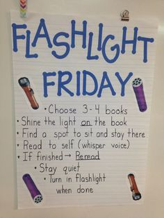 Is silent reading time a struggle in your classroom? Here are some unique and fun strategies to use in your classroom to improve your students' independent and silent reading time. Flashlight Friday makes silent reading fun and exciting for students. Classroom Fun, Kindergarten Classroom, Future Classroom, Camping Theme For Classroom, Classroom Reading Nook, Classroom Prizes, Classroom Libraries, Classroom Calendar, Kindergarten Graduation