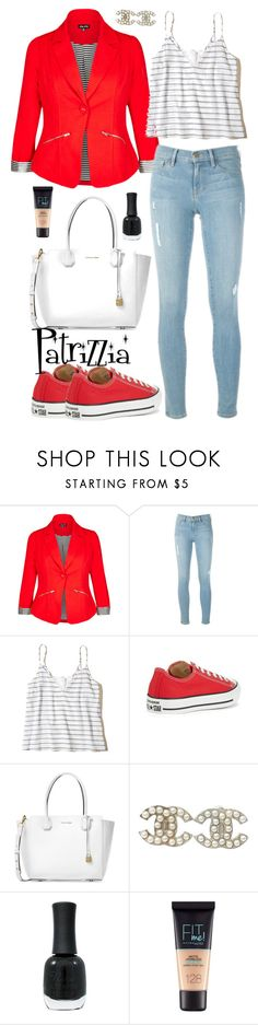 Patrizzia29.04.2017h by patrizzia on Polyvore featuring moda, Hollister Co., City Chic, Frame, Converse, Michael Kors, Chanel, Maybelline, Charlotte Russe and plus size clothing