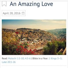 """I have #loved you"""" says the #Lord. www.odb.org"""