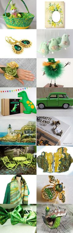Green Yellow Orange March by Jelena on Etsy-- Lovely Etsy Treasury with unique handmade gifts for you.... Homemade Easter Basket.... Pinned+with+TreasuryPin.com