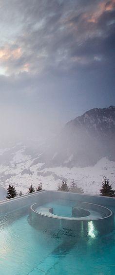 Breathtaking views from Hotel Villa Honegg...Switzerland