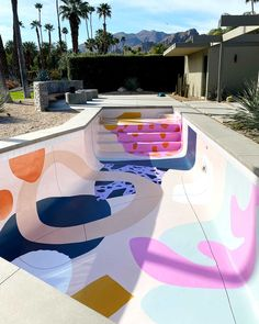 Design Exterior, Modern Exterior, Interior And Exterior, Pool Paint, Decoration Bedroom, Style Deco, Spring Home, Spring Usa, Cool Pools
