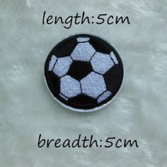 FairyTeller Soccer Patch Hot Melt Adhesive Clothing Patch 1Pcs Applique Embroidery Blossom Diy Accessories Ultra-Low Prices C212 ** See this great item.