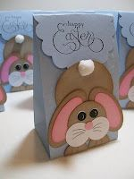 Easter Treat Bags - The blog doesn't have a link on how to make them, but I'm sure it's not that hard to figure out.