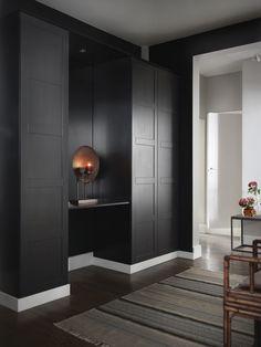Hallway – Home Decor Designs Front Hall Closet, Hallway Closet, Tall Cabinet Storage, Locker Storage, Design Entrée, Dark Hallway, Georgian Homes, Scandinavian Home, Contemporary Interior