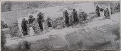 Frederic DAVIAU - 4 12 10 - crayon sur papier 32x76 cm