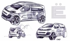 Citroën SpaceTourer 4X4 Ë Concept sketches