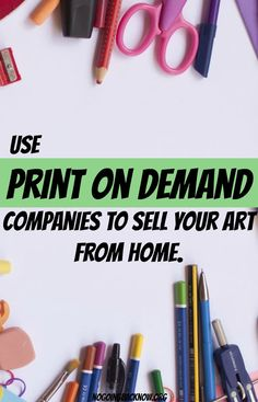 Tips and and product ideas for Print On Demand. T Shirt and clothing designs and guidance to run your own Print On Demand dropship business with suggestions for the best Print On Demand companies Business Notes, Best Business Ideas, Tshirt Business, Craft Business, Creative Business, Online Business, Selling Art Online, Online Art, Print On Demand