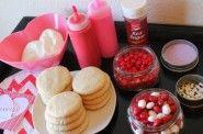 Valentines Day Cookie Bar Ingredients